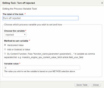Task Editing via the Form API